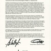 The Israel and Bahrain peace agreement (White House)