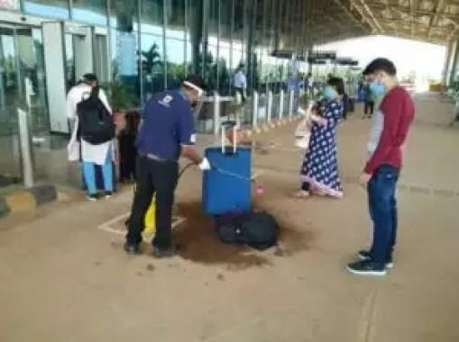 karnataka airport checking
