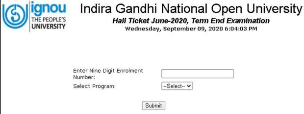 IGNOU TEE June 2020 admit card for B.Ed. released