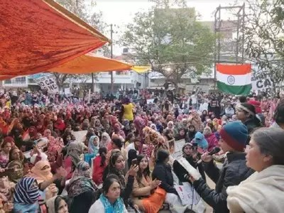 Image result for Women's PROTEST in Allahabad AGAINST CAA