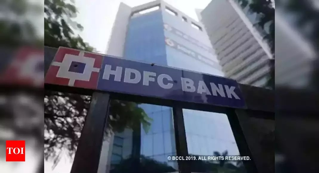 HDFC Bank net profit rises 20% during first quarter to Rs 6,658 crore – Times of India