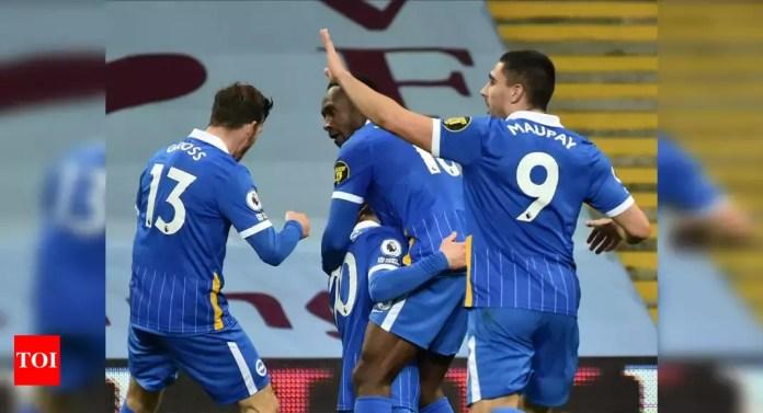 Premier League: Brighton snap winless streak with 2-1 triumph at Villa   Football News – Times of India