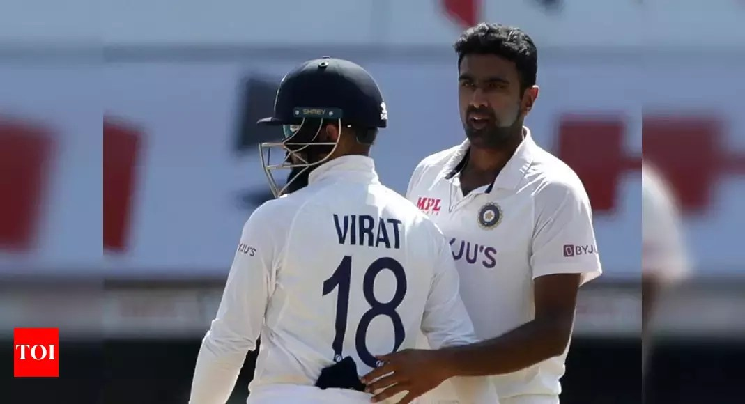 2nd Test: R Ashwin surpasses Harbhajan Singh for Test wickets in India, now only behind Anil Kumble   Cricket News – Times of India