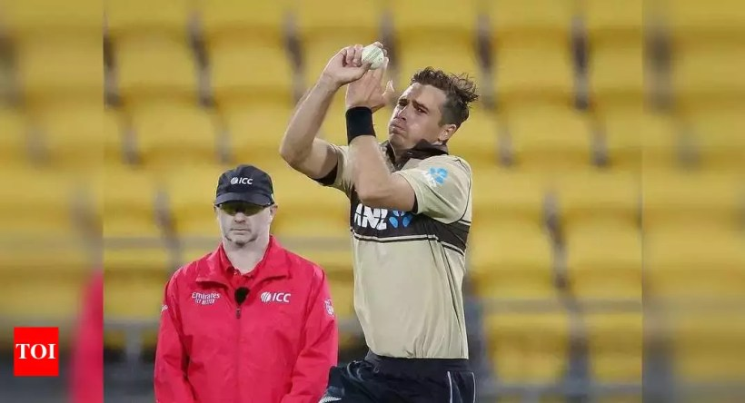 Tim Southee reprimanded for showing dissent at umpire's decision | Cricket News – Times of India
