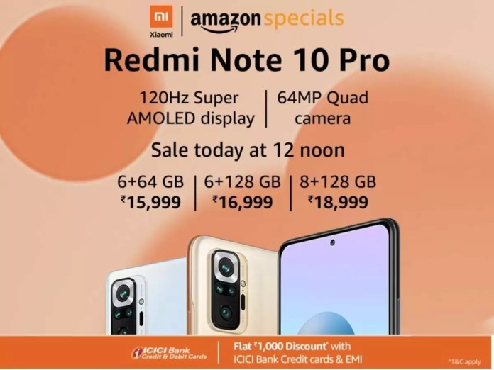 Redmi Note 10 Pro Amazon Sale: Redmi Note 10 Pro To Go On Sale Today via Amazon; Price, Specifications And Other Details Here | Most Searched Products - Times of India