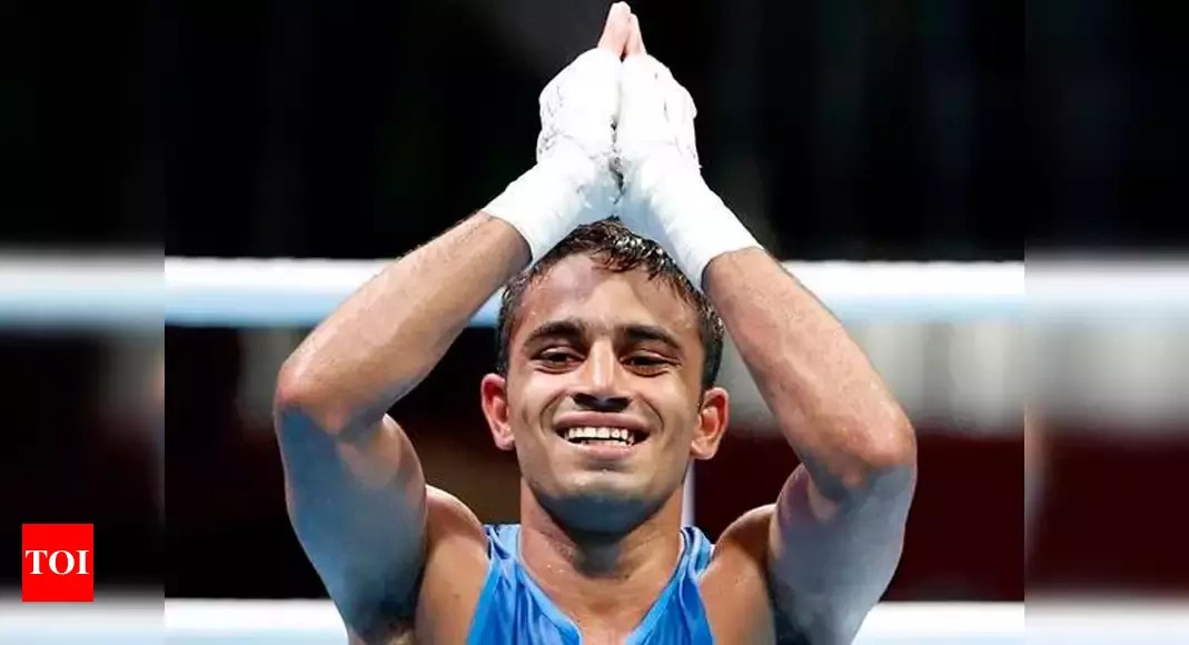 amit panghal:  Amit Panghal settles for a bronze medal at Governor's Cup | Boxing News – Times of India