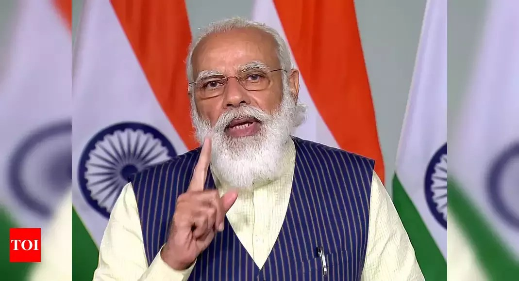 PM Modi reviews meeting with top officials to review Covid-19 situation   India News – Times of India