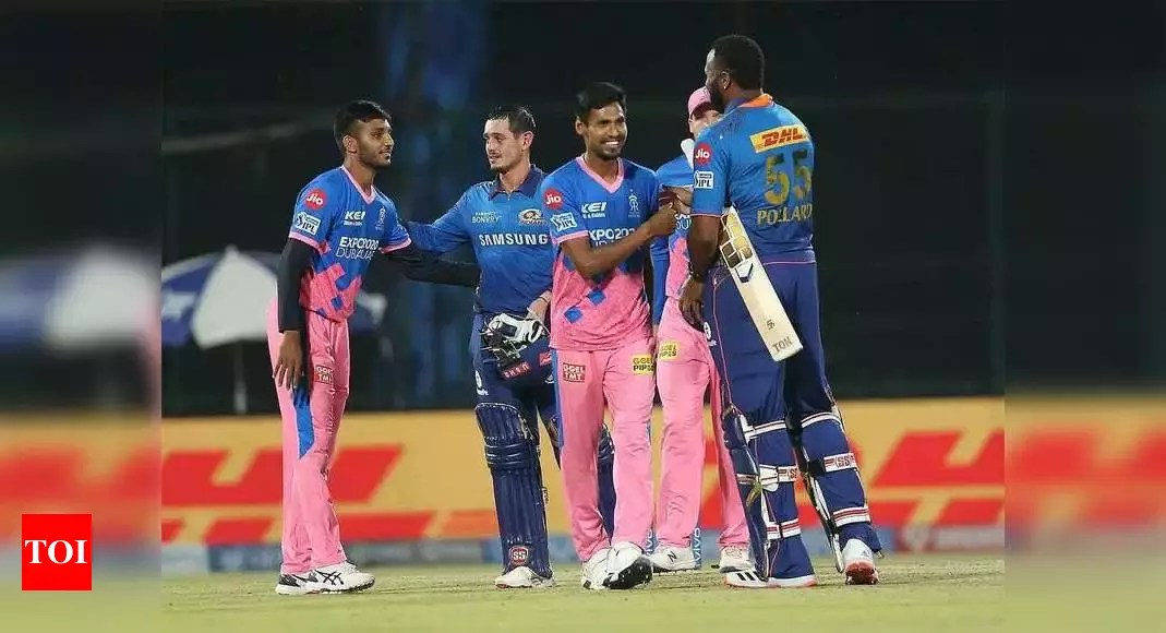 IPL 2021, MI vs RR: De Kock guides Mumbai Indians to seven-wicket win over Rajasthan Royals | Cricket News – Times of India