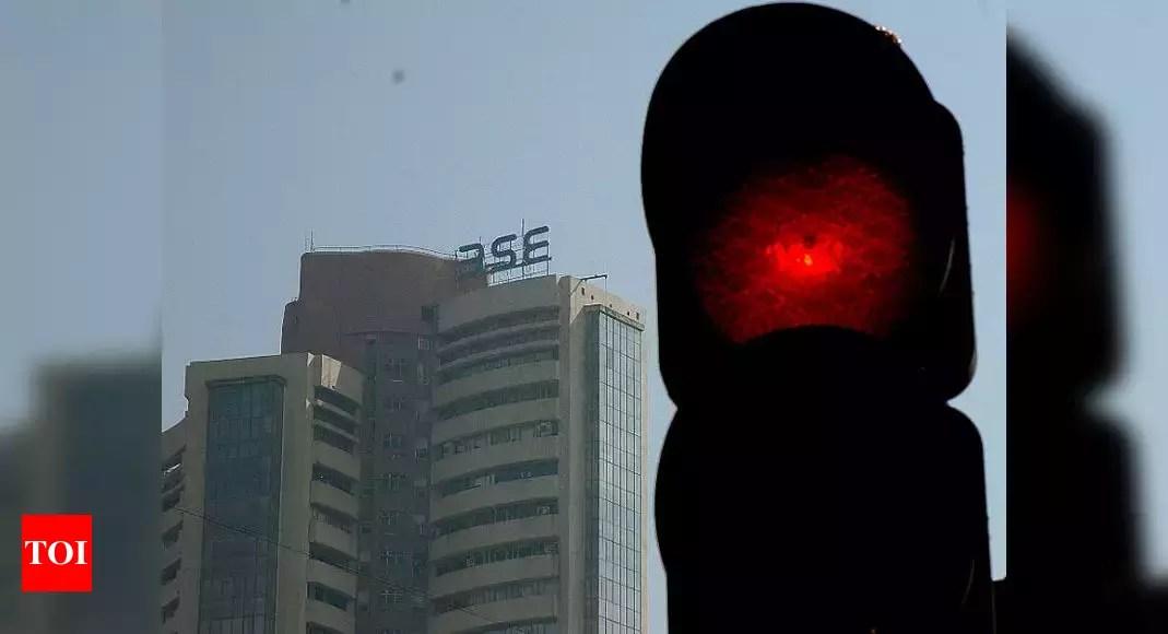 sensex today:  Sensex slumps 465 points; Nifty slips below 14,500 – Times of India