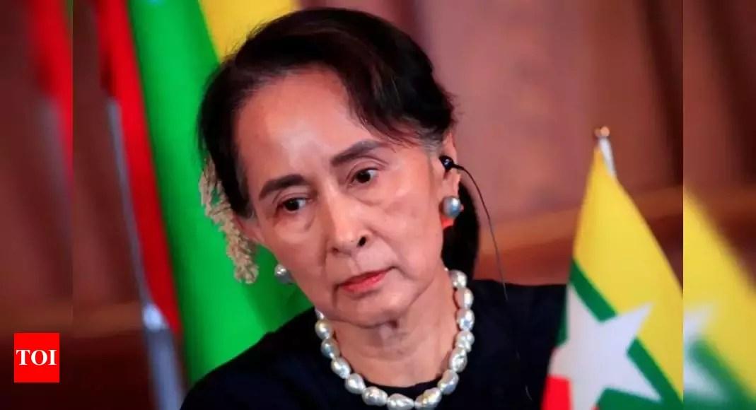Myanmar junta leader says Suu Kyi will soon appear – Times of India