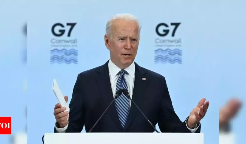 With Biden's backing, G7 leaders' communiqué slams China on multiple fronts – Times of India