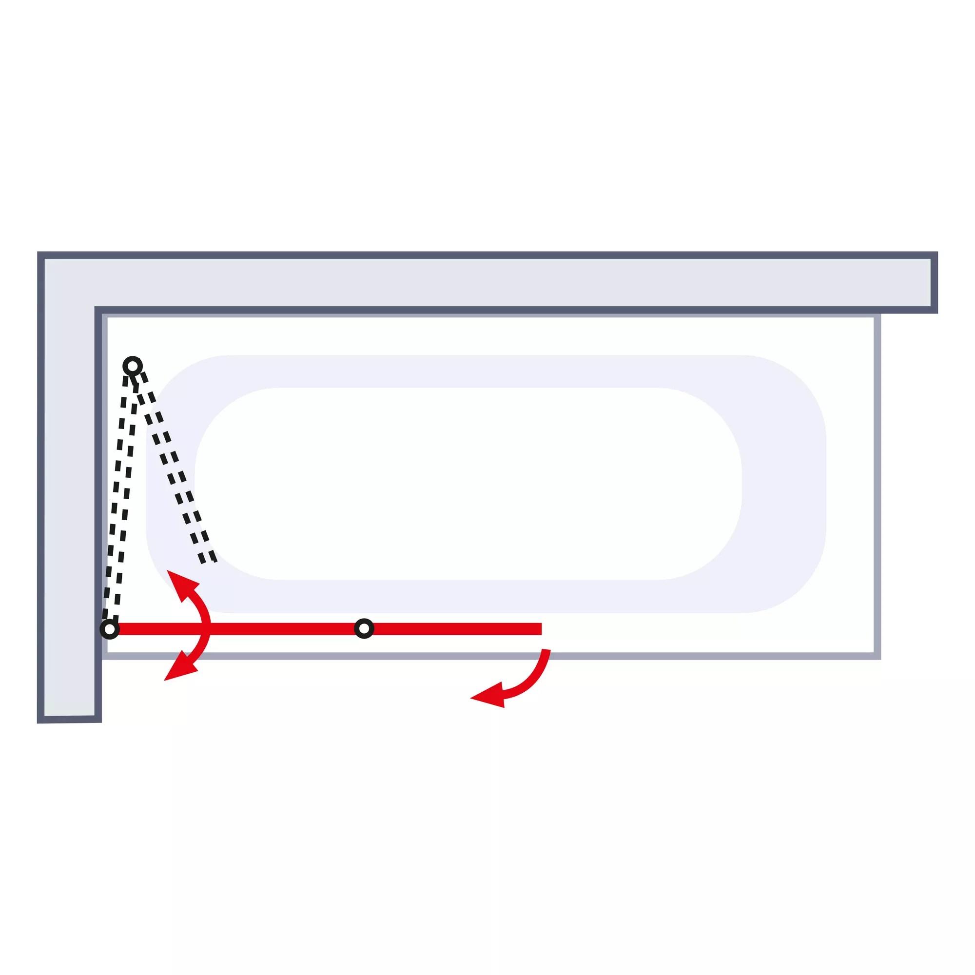 Schulte Badewannenfaltwand Komfort Schwarz Klar 112 X 140 Cm 2 Teilig ǀ Toom Baumarkt