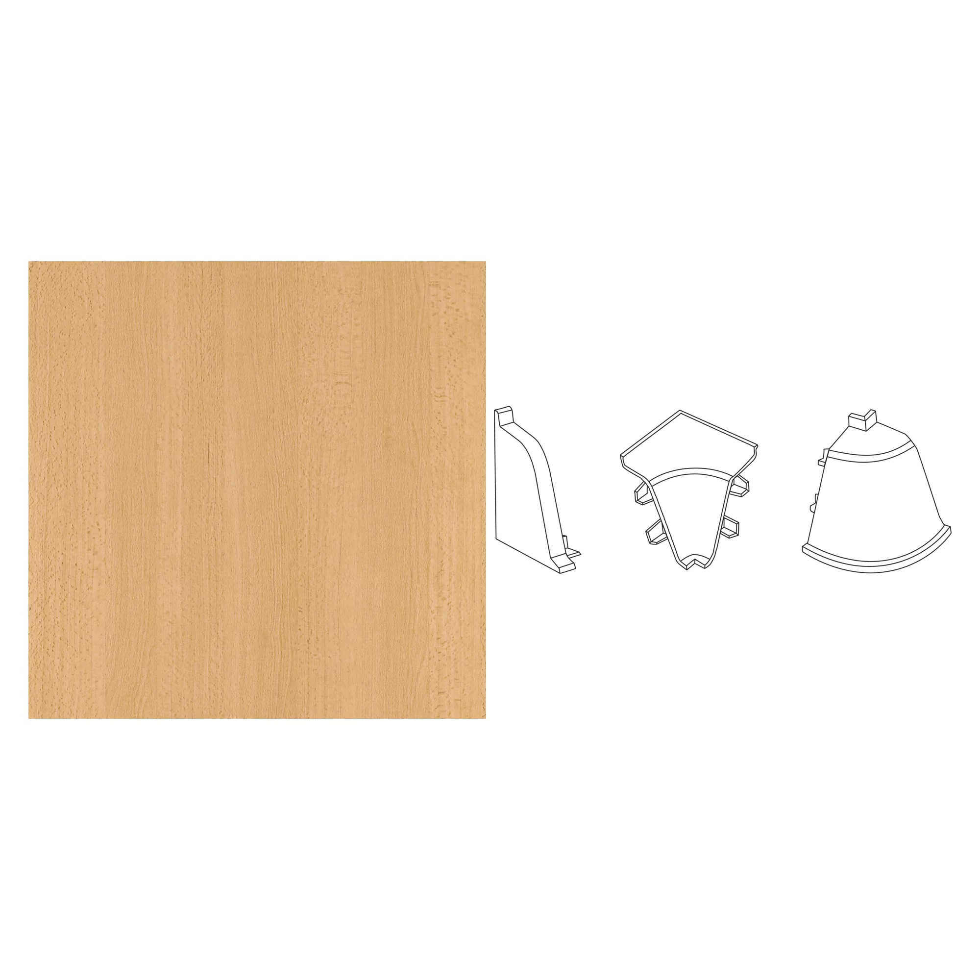 Getaelements Endkappe Compact Buche 35 X 25 Mm ǀ Toom Baumarkt