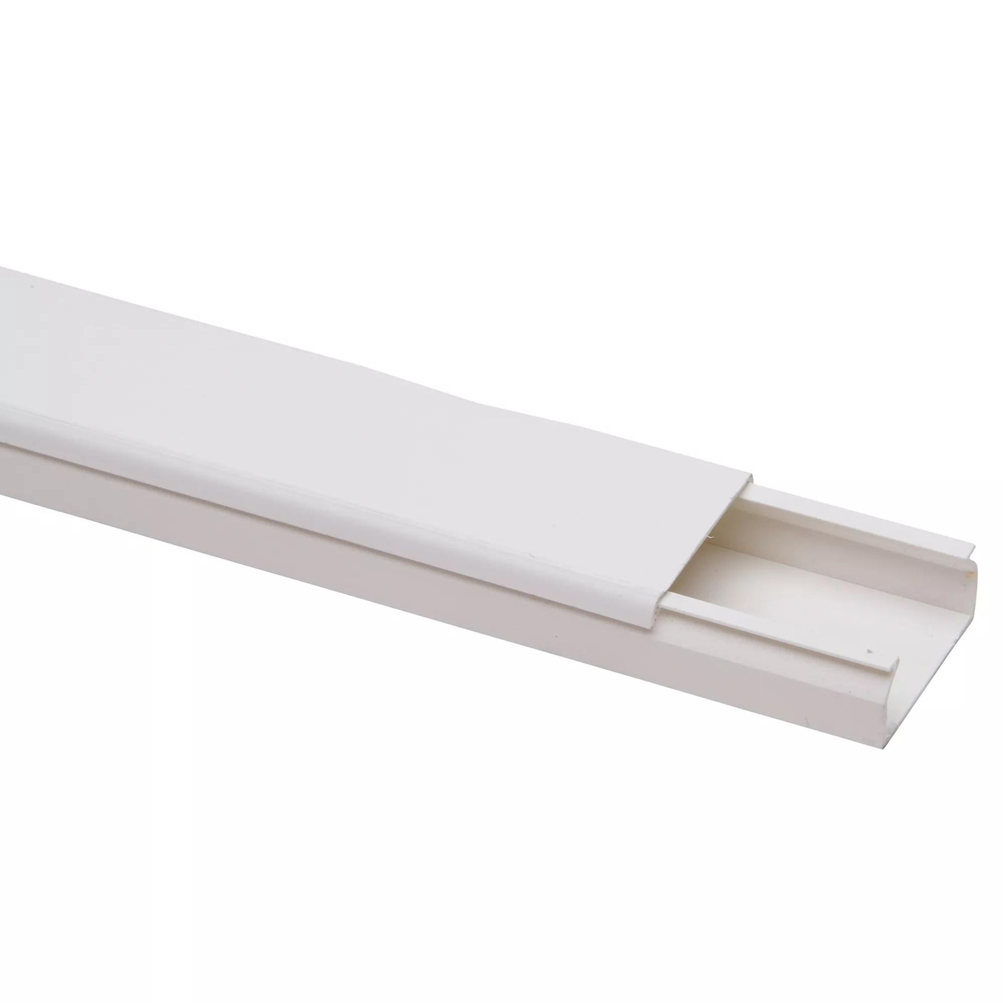 Kabelkanal PRO 60 x 40 mm Weiß TV Kabelleiste Wand Boden PVC Länge wählbar