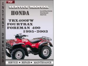 Honda TRX400FW Fourtrax Foreman 400 19952003 Service