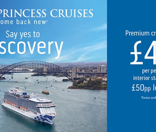 Princess Cruises Low Deposit