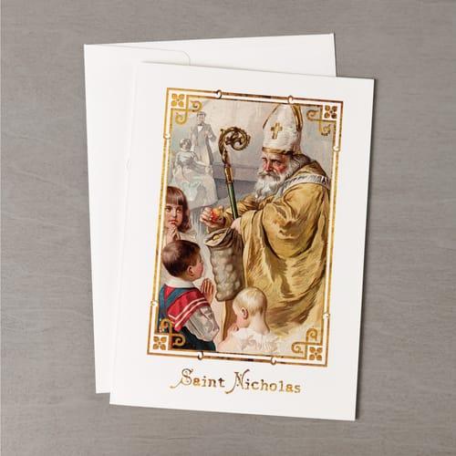 Vintage St Nicholas Christmas Cards - Set of 20