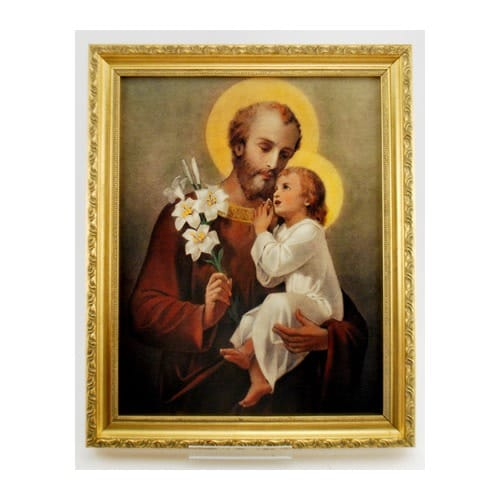 St. Joseph With the Christ Child Print