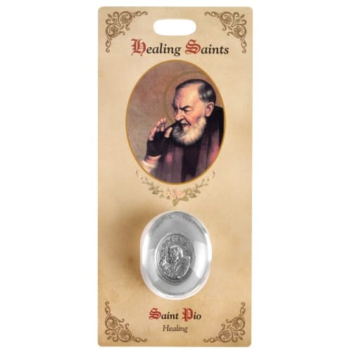 St Pio Healing Saint Pocket Stone, traditional catholic stores, catholic store, shop, tradcatfem, Padre pio, padre pio feast day, padre pio quotes, padre pio prayer, what did padre pio die of, what is padre pio the patron saint of, padre pio miracles, padre io facts, padre pio stigmata,