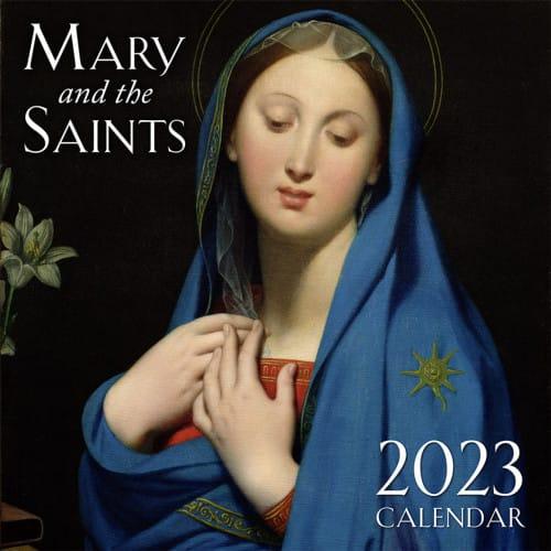 Mary and the Saints 2018 Wall Calendar