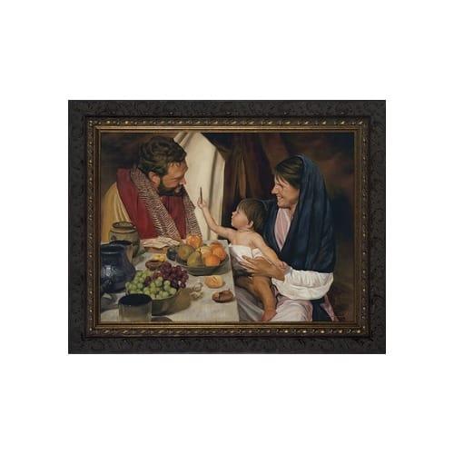 The Holy Family w/ Dark Ornate Frame
