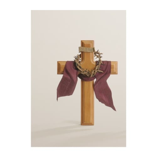He is Risen Wood Wall Cross