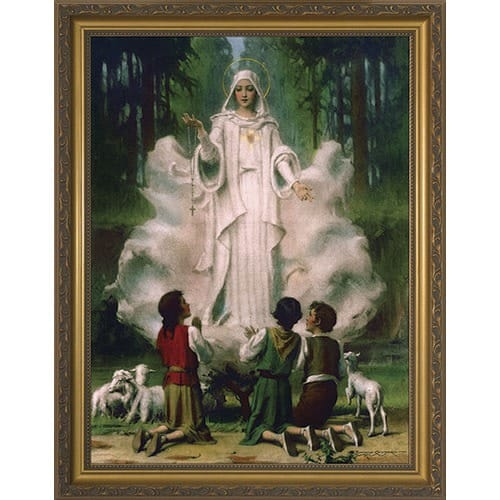 Our Lady of Fatima w/ Gold Frame