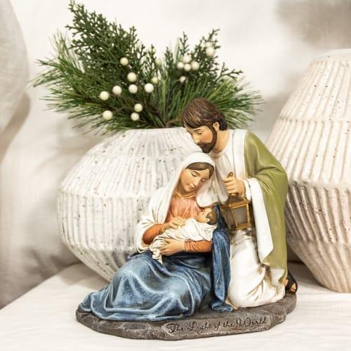 Light of the World Holy Family Figure