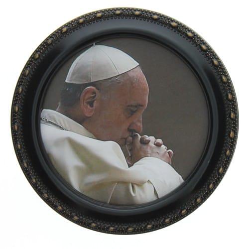 Pope Francis Round Keepsake Box
