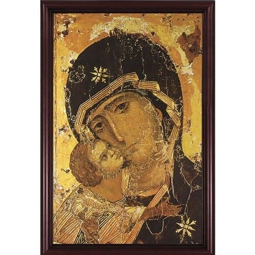 Our Lady Of Vladimir W Cherry Frame The Catholic Company