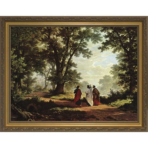 Road To Emmaus W Gold Frame The Catholic Company