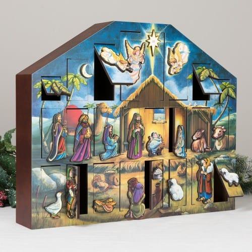 Wooden Heirloom Advent Calendar The Catholic Company