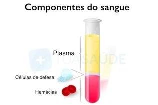 Separação do plasma do restante do sangue