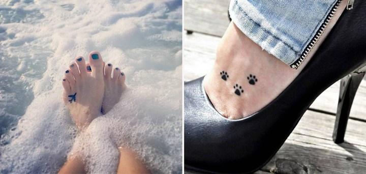 30 Ideias de tattoos para deixar seus pés ainda mais delicados