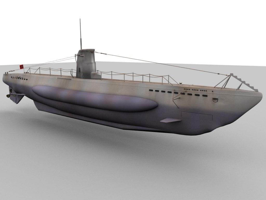 German Type U Boat Obj