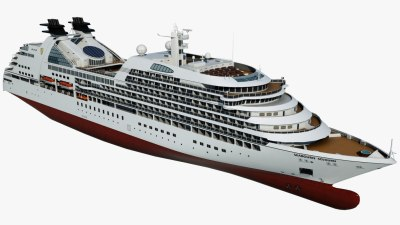 Cruise seabourn sojourn ship 3D model - TurboSquid 1168301