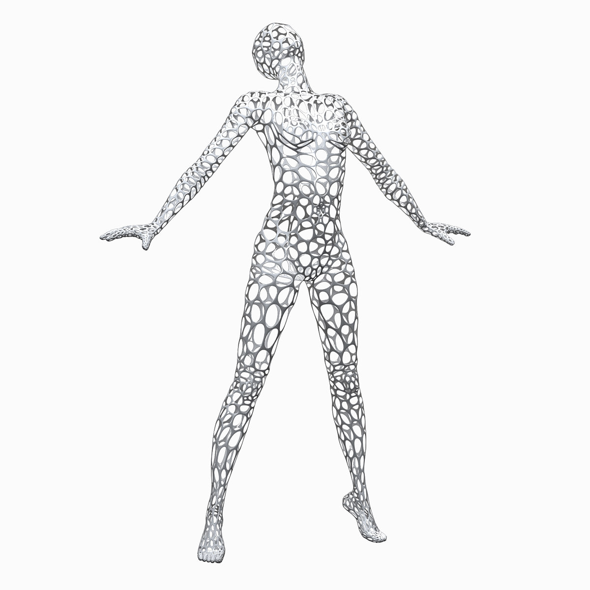 Female Wire Mannequin 3d
