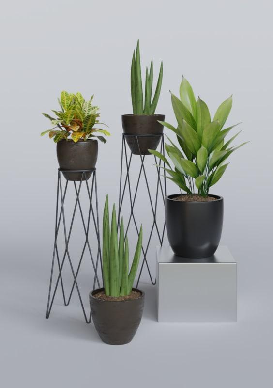 3d Decorative Plant Pot 1 Model Turbosquid 1174578