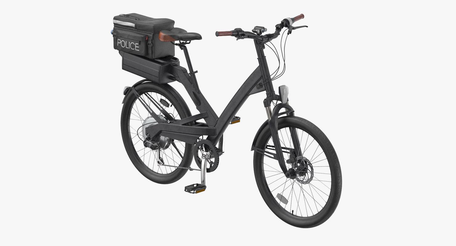 Police Bike Rigged Model