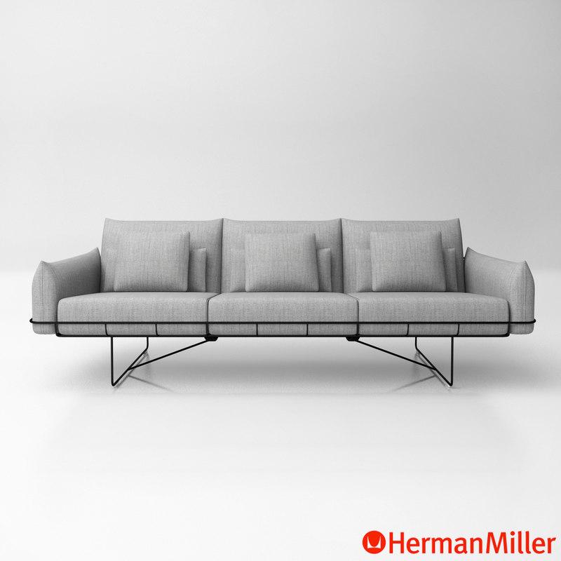 Roll Arm Sofa Herman Miller