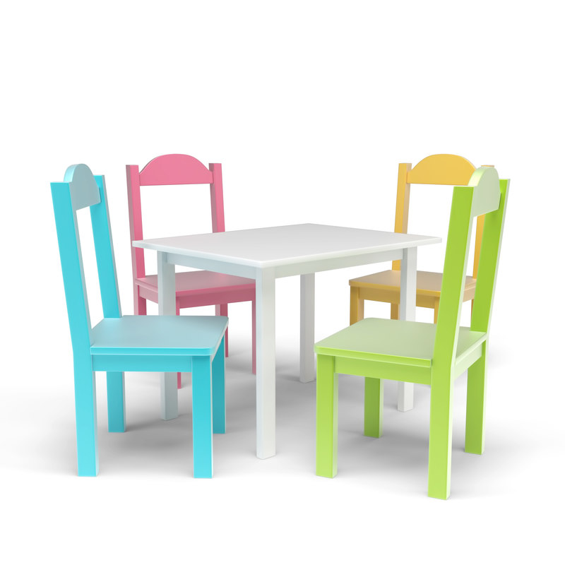 Kids Table Chairs Set 3d Model Turbosquid 1191956