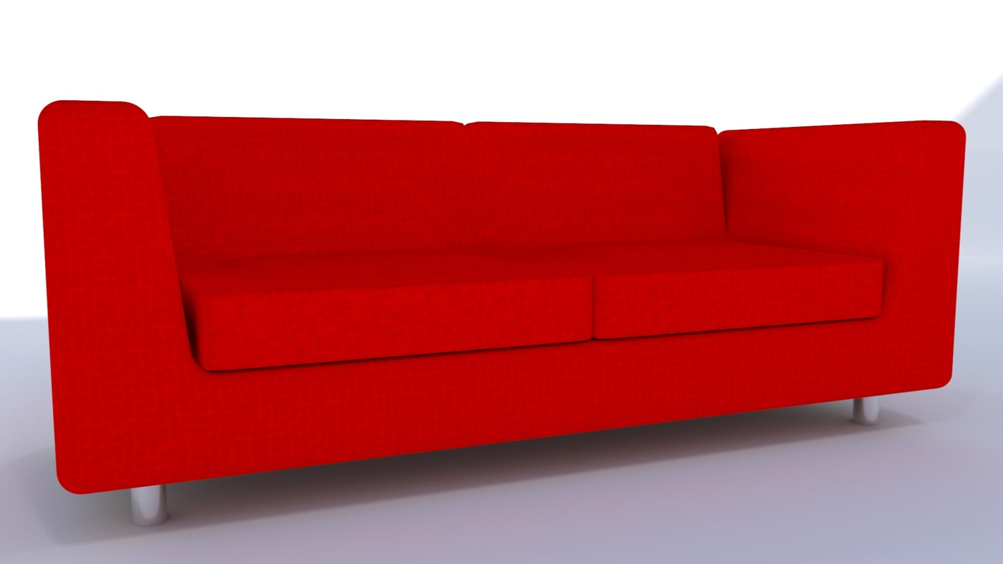 Modern Red Leather Sofa 3d Turbosquid 1207112