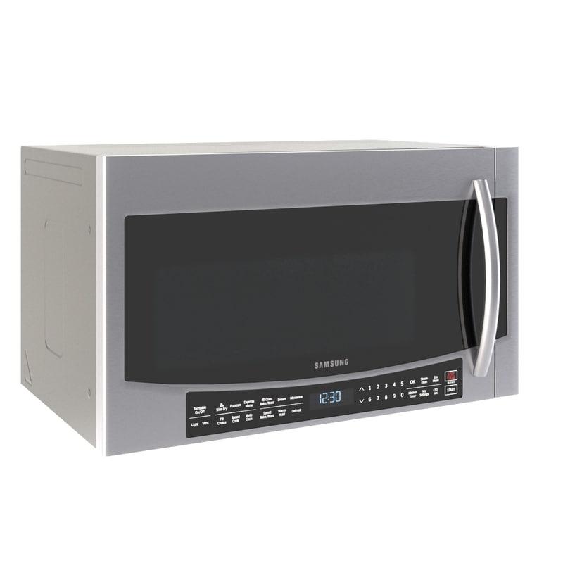 microwave samsung mc17j8000 wall 3d model turbosquid 1235872