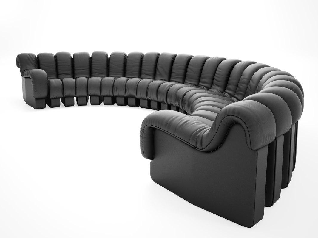 ds 600 semi circle sofa