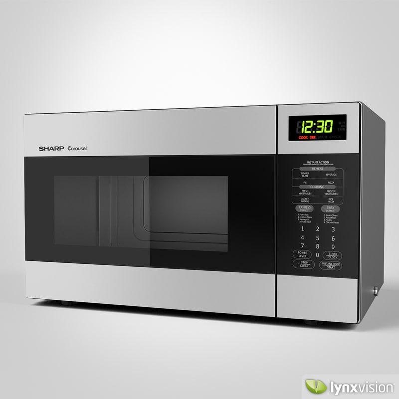 3d model sharp microwave oven