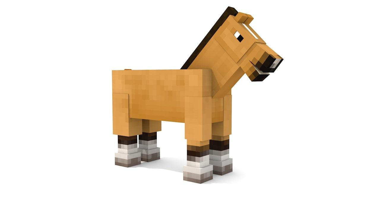 3d Model Minecraft Horse