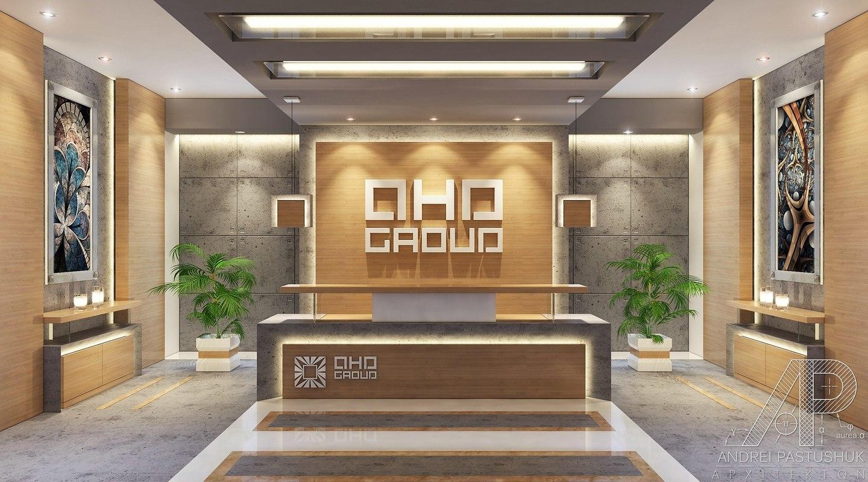3d Contemporary Office Reception Lobby Model