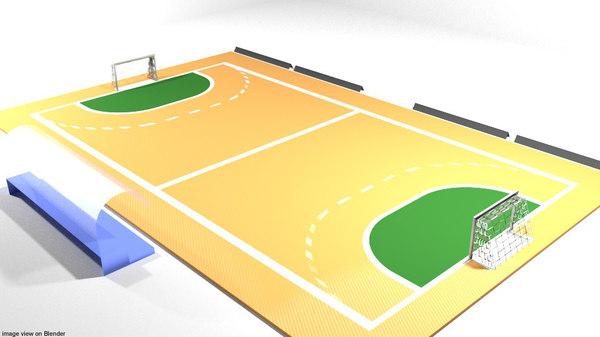 spielfeld handball