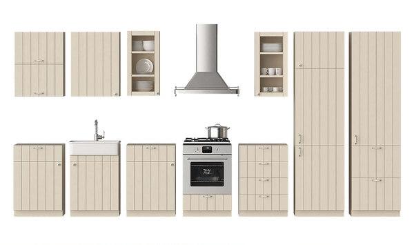 3d Kitchen Ikea Metod Hittarp Turbosquid 1360865