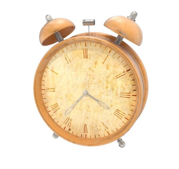 Alarm Clock Old Model Turbosquid